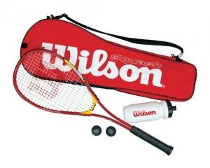 Wilson Squashset Squash Starter Kit, rot -