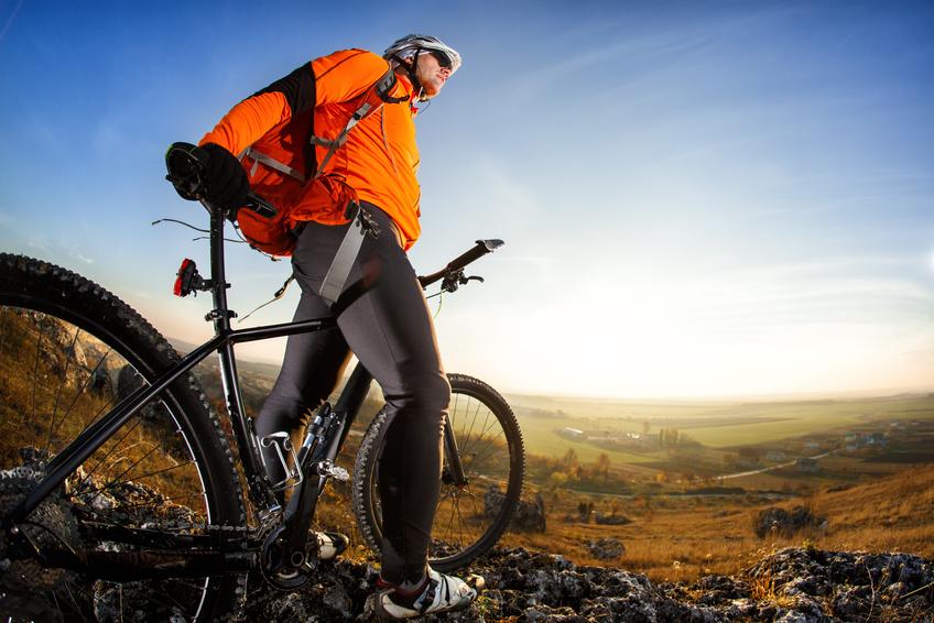 Fahrradfahren in den Bergen